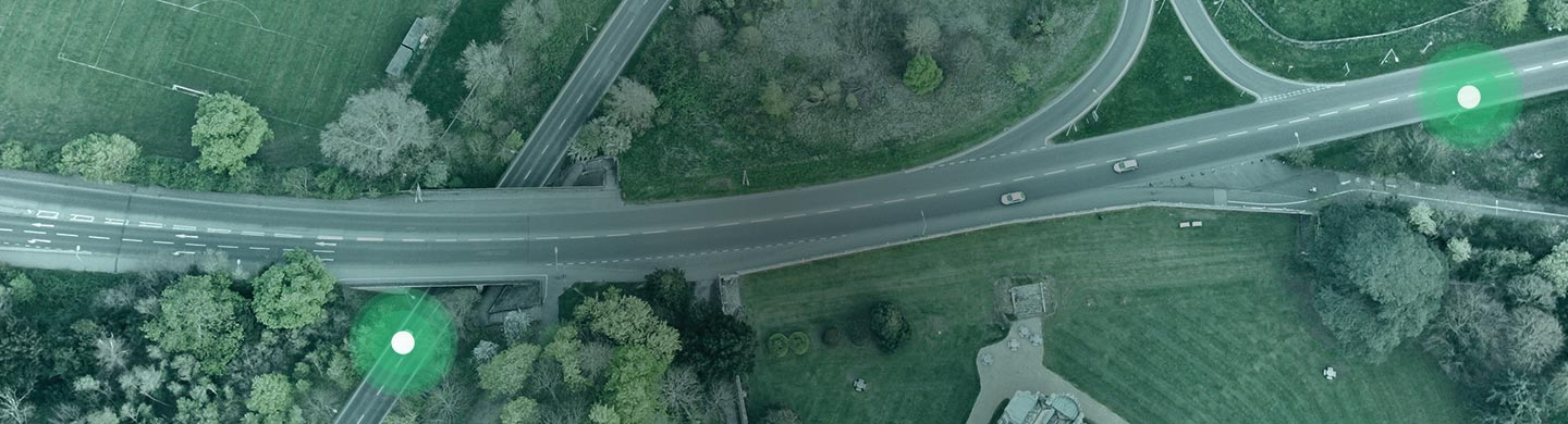 Aerial View of Fleet on a Highway