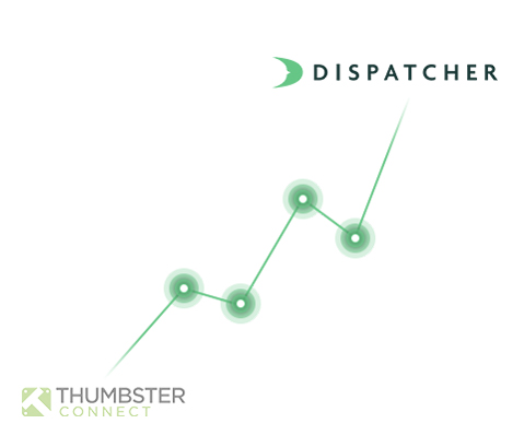 Trend Line Connecting Thumbster Connect and Dispatcher.com