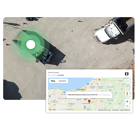 Green Front Load Dumpster and Dispatch Map