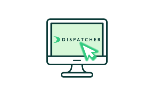 Dispatcher.com Desktop Graphic.
