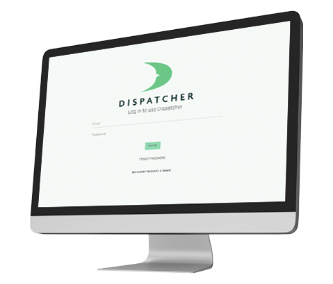 Dispatcher.com Login Screen